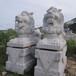 祠堂摆件石狮子大型镇宅摆件石材狮子石雕麒麟厂家