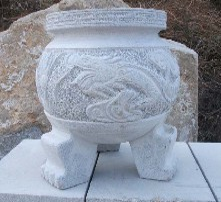 石雕狮子,石材化钱炉,石材香炉图片