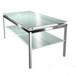 现代不锈钢角几玻璃茶几客厅沙发边桌