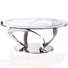 不锈钢大理石茶几不锈钢天然现代简约客厅烤漆电视柜组合茶几套装