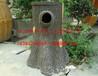 水泥仿树垃圾桶景区小区垃圾箱景区双桶仿木垃圾桶厂家批发定做