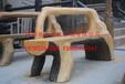 厂家供应仿木桌子凳子仿树皮圆桌仿木平板凳户外仿木桌凳
