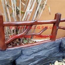 塑石假山,塑石大门,贵州户外水泥仿树皮栏杆,云南仿木护栏图片