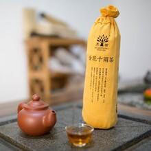 黑马茶厂10两花卷茶湖南安化传统特级金花黑茶