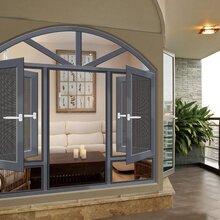 家庭装修复合窗中高端铝合金组合窗别墅装饰窗户图片