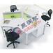 廠家直銷鋼木結合辦公桌電腦桌