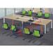 厂家直销新款板式会议桌钢木结合会议桌