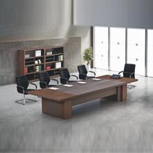 綠色環保板式會議桌鋼架會議桌多人位會議桌圖片
