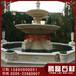 广场石雕水钵精致黄锈石石雕喷泉加工厂