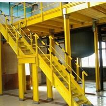 玻璃钢绝缘单梯广源复合材料定制玻璃钢拉挤型材玻璃钢带护笼爬梯,单梯图片