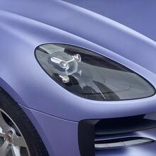烟台汽车车身改色贴膜,保时捷macan改色哑光浅紫,烟台悦声图片