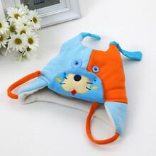 婴儿帽子秋冬季儿童毛线帽6-12小孩护耳加绒帽1-2岁宝宝帽子男女