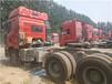 深圳光明新区德龙二拖三380平板车高低板半挂货车