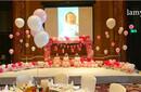 女宝宝百日宴布置长沙百日宴策划专业气球布置公司图片