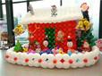 长沙圣诞节气球布置圣诞节气球布置圣诞节气球拱门-同心气球图片
