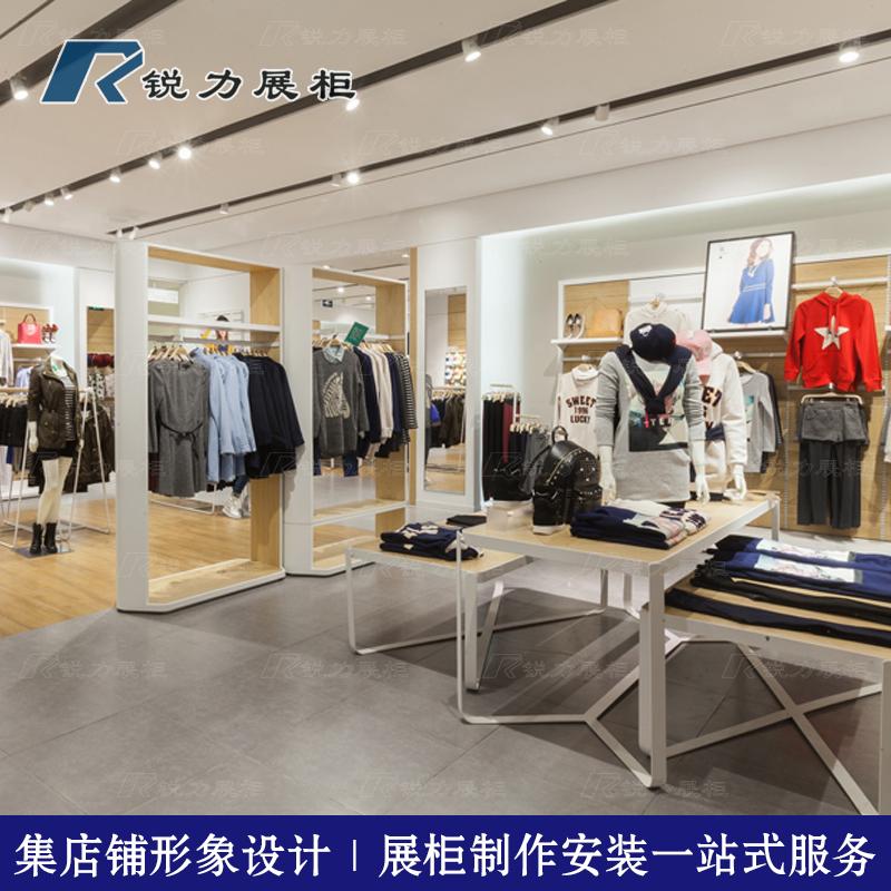高档热风展示柜商场服装专店装修欧式男女装展柜定制