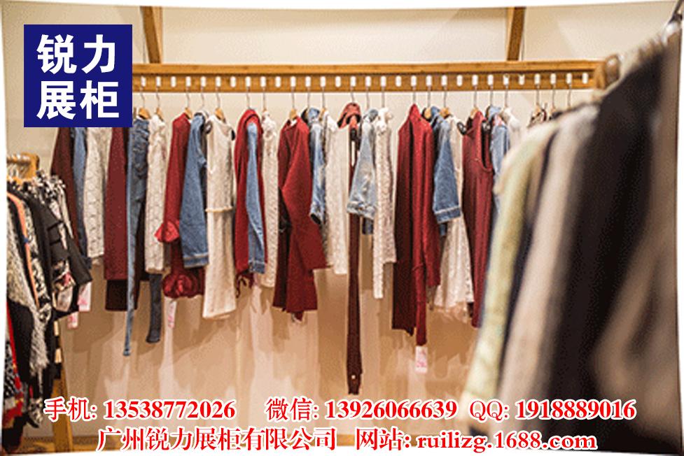 商场女装服装店上墙货架组合式时尚展示柜服装陈列展示架批发