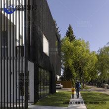 造型铝方通木纹U型槽铝方管格栅隔断外幕墙铝材天花装饰材料图片