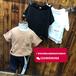 衡阳厂家直销全棉奥黛尔时尚圆领短袖T恤批发低价便宜童装十元以下短袖T恤套装批发