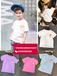 泉州哪里有便宜質量又好童裝批發貨源8-15歲中大童純棉短袖套裝奧黛爾時尚短袖T恤批發