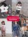 鄭州中大童裝批發市場一手貨源中大童短袖T恤套裝批發9-15歲大童冰絲棉麻套裝批發網站
