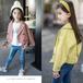 杭州高檔韓版童裝批發市場廠家一手童裝貨源新款潮版童裝外套批發女童喇叭袖風衣外套