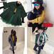 山西太原哪里有便宜的儿童装批发秋季洗水棉精品刺绣个性外套批发时髦潮版后背织带外套