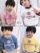 厂家直销冬季童装加绒加厚卫衣批发市场在哪广州时尚韩版中小童潮款童装加绒加厚卫衣