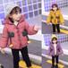 湖南株洲精品童裝批發市場在哪里中大童韓版真毛領女童羽絨棉衣批發潮版韓范兒童棉衣