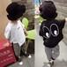 夏天便宜的質量好的童裝貨源在哪里拿廣州網絡熱銷爆款韓版印花短袖T恤批發貨到付款網