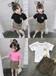 湖南株洲金谷童裝批發市場夏季韓版跑量款中小童短袖套裝批發網上熱銷爆款童裝貨源