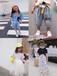 云南楚雄網紅童裝店批發價格阿里巴巴網絡爆款童裝批發4-8歲中童韓版馬卡龍色童裝套裝