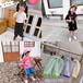 菏澤童裝批發廠家直銷出口臺灣香港夏季潮童套裝批發貨到付款時尚韓版女童蛋糕裙兩件套