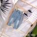 湖州織里中高端精品童裝批發市場2019夏季韓國爆版個性印花童裝牛仔中褲短褲批發