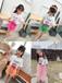 江西贛州廠家直銷哪里有貨好價格便宜的童裝批發貨源30元以內新款潮版童裝套裝褲子貨源