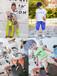 四川广元厂家直销童装套装连衣裙批发交易平台30元以下中大童潮牌纯棉工装裤套装批发