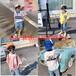 安徽合肥夏天流行热门儿童衣服批发中小童洋气时髦儿童套装批发货到付款便宜20元童装