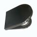 現貨銷售孔距可調坐便蓋板黑色D形普通坐便器蓋板