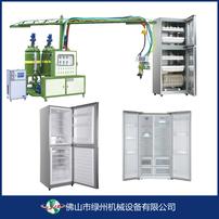 消毒柜保温板设备,冰箱保温生产设备,PU环保材料发泡机,保温材料图片