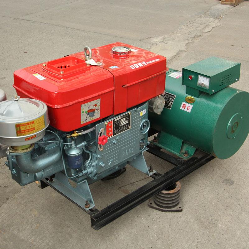纸塑分离机专用15kw千瓦常州常柴单缸柴油机发电机组
