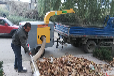 树叶收集车树叶粉碎机垃圾收集机牵引式树叶收集器