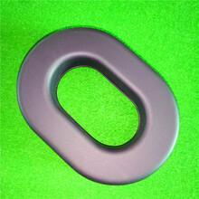 航空专用真皮海绵耳机套高周波吸塑成型TPU皮硅油皮耳套(图)