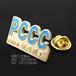 英文字母logo金属胸章制作,优秀员工勋章设计制作厂家,荣誉奖章