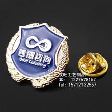 金属徽章制作价格,烤漆镀金胸针,深圳欣旺徽章厂家
