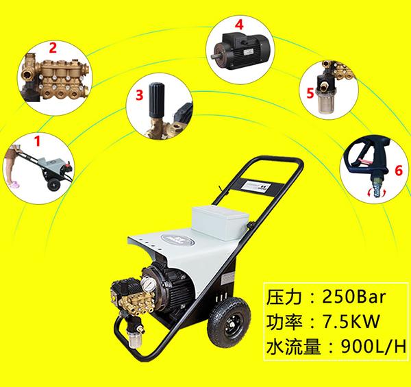 江门250公斤冷水高压清洗机25兆帕高压水枪厂家