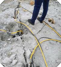 松原液压劈裂棒石灰矿开采机器哪家的好图片