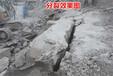 杭州公路擴建石頭太硬大型劈裂機效果