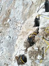 硬岩分裂拆除分裂机石头静态快速劈裂棒湖北省图片
