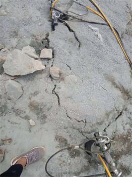 硅石开采设备不用爆破静态破石机郴州静态环保