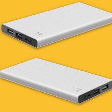 新款超薄金属私模移动电源5000毫安超薄充电宝礼品定制